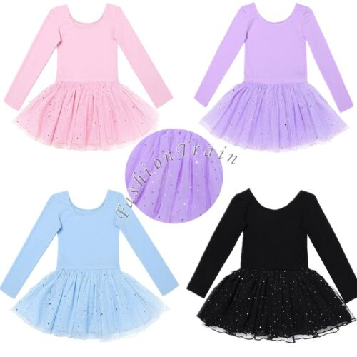 Child Girls Ballet Tutu Skirt Skating Dress Dance Costume Kids Leotard Dancewear