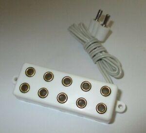Barre-de-Distributeur-Avec-Cable-5-Connexions-Pour-Connecteur-2-6mm-Blanc-034-034