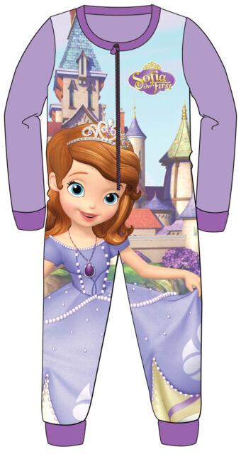 Kids Winter Fleece Onesie Disney Frozen Avengers Doc Mcstuffin Pyjamas Sleepsuit