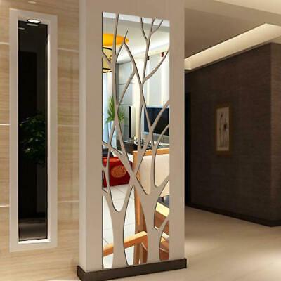 Tree shape Acrylic Mirror Wall Stickers Reflective Decal Art Mural Home Decor