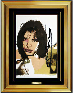 Andy Warhol Original Hand Signed Lithograph Mick Jagger