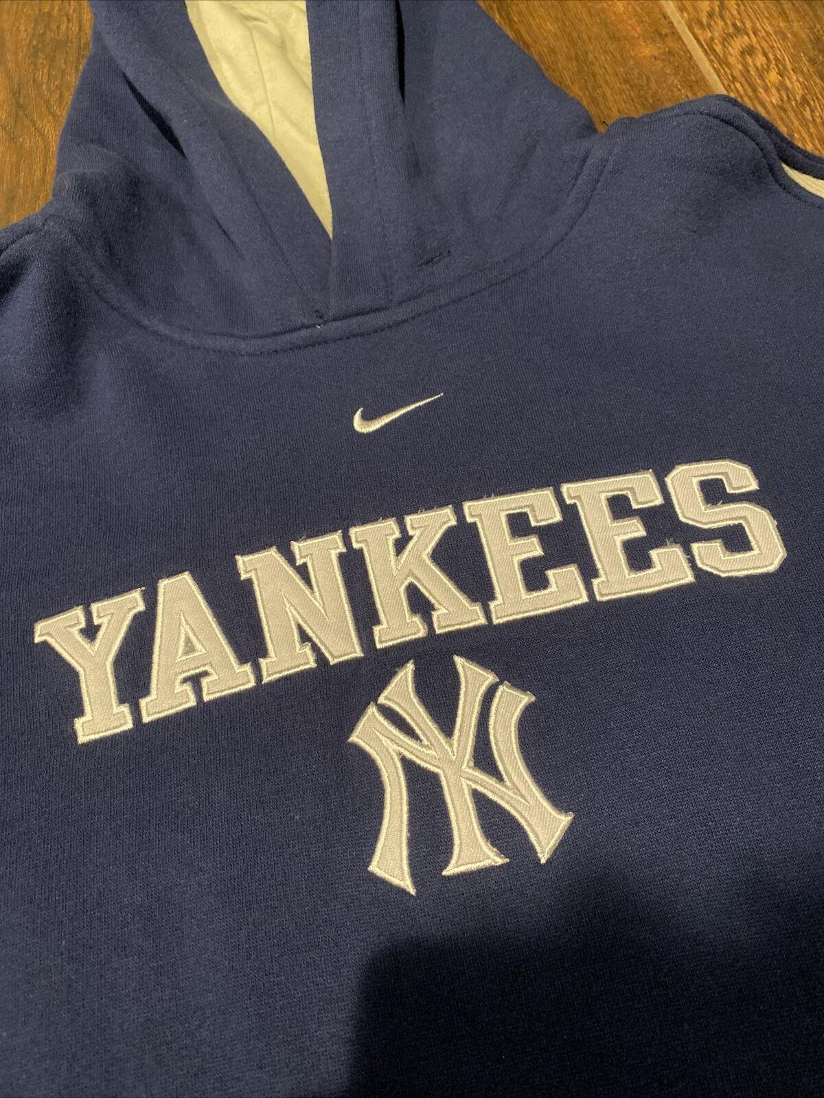 Vintage 90s Nike Center Swoosh New York Yankees H… - image 5
