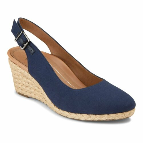 7.5 Wide Vionic Coralina Women/'s Supportive Wedge Navy