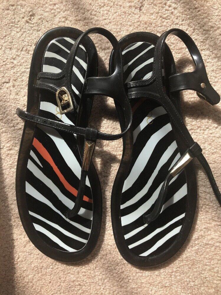 Jimmy Choo Rubber Striped Sandals 36