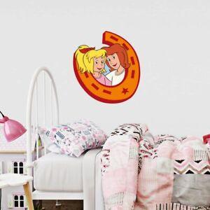 Bibi Und Tina Wandtattoo Im Hufeisen Madchen Kinderzimmer Wandaufkleber Ebay