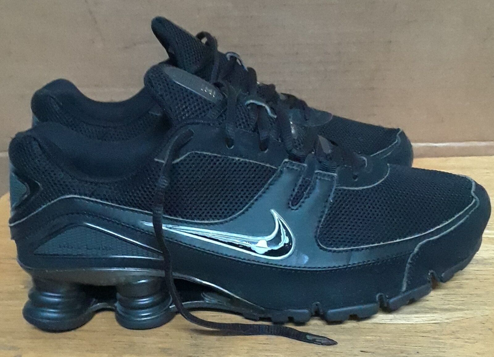 Nike Shox Turbo 316872-006 Men's Running Black shoes. Sz 9