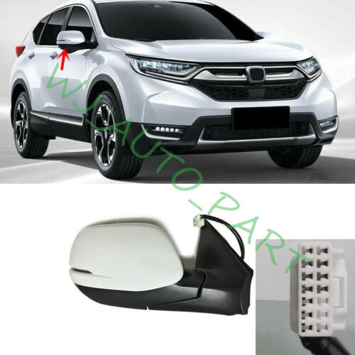 Rearview mirror 8 Pins joint Right Passenger Side White For Honda CRV 2017-2019