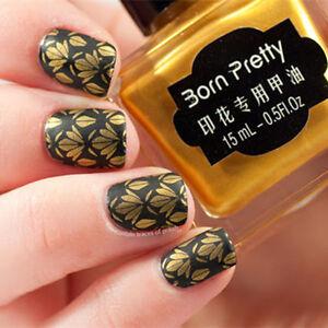 Born-Pretty-15ml-Gold-Nail-Art-Stamp-Polish-Manikuere-Stamping-Platte-Lack-1