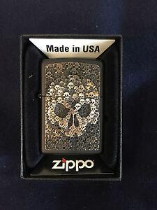 ZIPPO-Lighter-Feuerzeug-Modell-Skulls-in-Skull-Made-in-USA