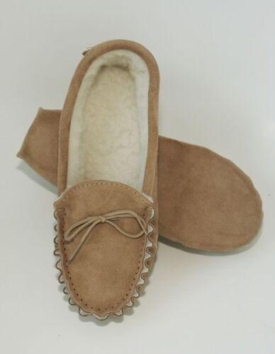 Homme semelle souple en daim peau de mouton mocassin slipper chaud taille 8 made in england