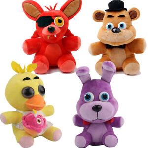 """4pcs FNAF Five Nights at Freddy's Plush Soft Toy 10"""" 25cm Bear Foxy Bonnie  Doll"""