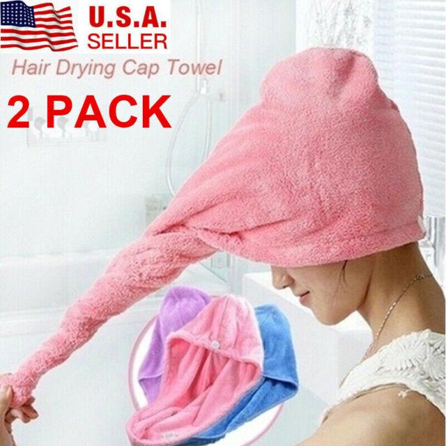 Textile Bathing Microfiber DrY Turban Hair Towel Hat Cap Shower Hat Bath Towel
