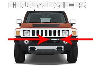Mirror Chrome Abs Plastic Front Bumper Inserts For 2006 2010 Hummer