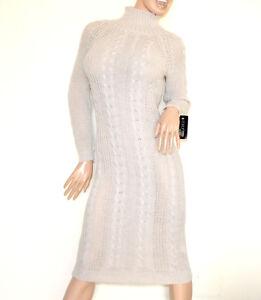 a457e1fca437a Caricamento dell immagine in corso VESTITO-a-maglia-lungo-BEIGE-abito-donna- lana-