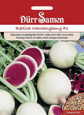 """Dürr Rettich """" Mantanghong  F1 weiß-rot  ca. 100 Samen , Sämereien"""
