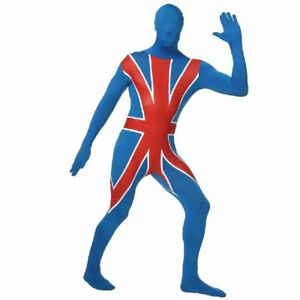 Responsable Union Jack Secound Peau Corps Complet Du Body Fancy Dress Costume Body Outfit-afficher Le Titre D'origine