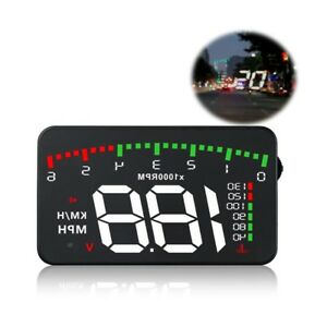 3-5inch-Universal-Windshield-HUD-Head-Up-Display-OBD2-Speedometer-Digital-Alarm