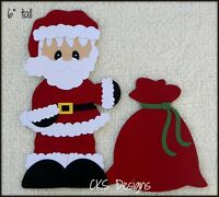 Christmas Santa Claus Die Cut Scrapbook Page Die Cut Embellishment Paper Piecing