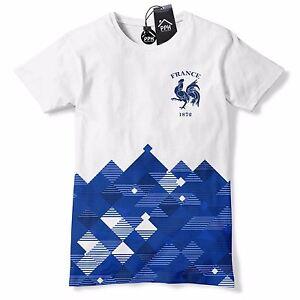 3d8d168cfbd France Football Shirt Retro Pattern Francais T Shirt Vintage Platini ...