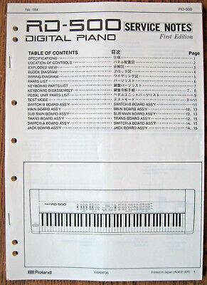 Original Service Manual for Roland RD-500 Digital Piano Keyboard   Schematics Etc   eBay