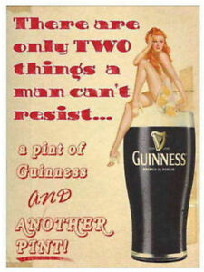GUINNESS-PINT-ADVERTISEMENT-Funny-Vintage-Ad-Style-METAL-SIGN-PLAQUE-wall-art