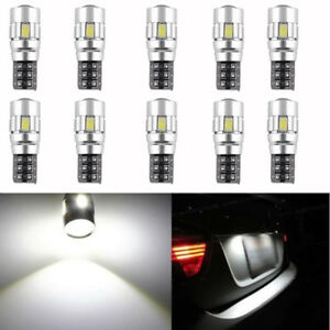 10 X CANBUS ERROR FREE 5630 Projector Lens T10 6SMD LED Bulbs W5W 194 168 6000K 608631687807