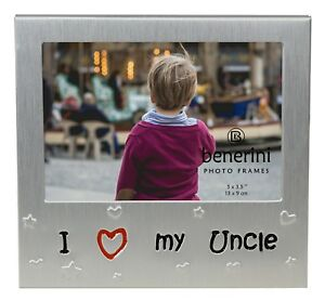 I Love My Uncle Photo Picture Frame Birthday Christmas Fathers Day