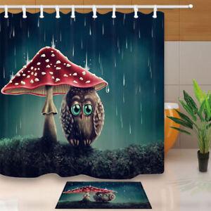 Umbrella Raining Decor Bathroom Fabric