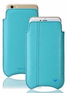 iPhone-8-7-boites-Simili-Cuir-Bleu-nuevue-AUTO-NETTOYAGE-ANTIBACTERIEN-doublure