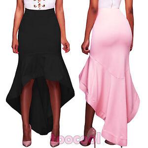 quality design 507c1 877d1 Dettagli su Gonna donna lunga aderente asimmetrica sirena elegante  cerimonia nuova DL-2131