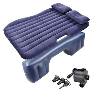 Inflatable-Mattress-Car-Air-Bed-Travel-Camping-Backseat-Cushion-w-Pillow-Pump