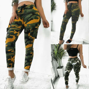 Women-039-s-Military-Army-Combat-Camouflage-Pant-Camo-Cargo-Trousers-Long-Pants-US