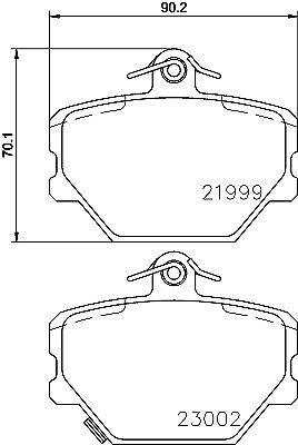 Mintex Front Brake Pad Set MDB2033  - BRAND NEW - GENUINE - 5 YEAR WARRANTY