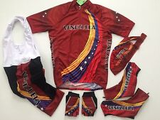 New size XL - VENEZUELA Team Cycling Flag Road Bike Set Jersey Bib Shorts Gloves
