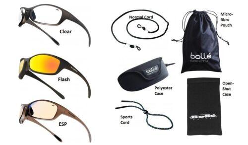 Bolle Spider Sicurezza Occhiali//Specifiche//Occhiali /& Gratis Microfibra
