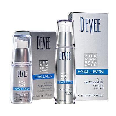 Devee Hyaluron Gel + Devee Hyaluron Augenfluid Lifting Concentrate - Sparset