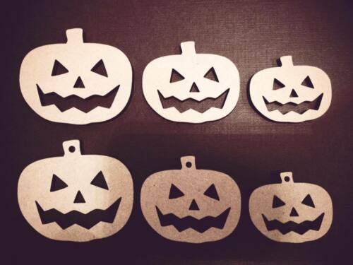 LASER CUT Halloween Pumkin Abbellimenti MDF Craft 40,50,60,80.100 mm