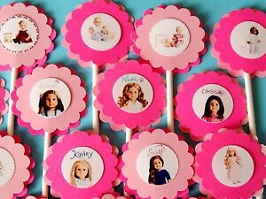 30 American Girl Cupcake Toppers Birthday Party Favors Baby Shower