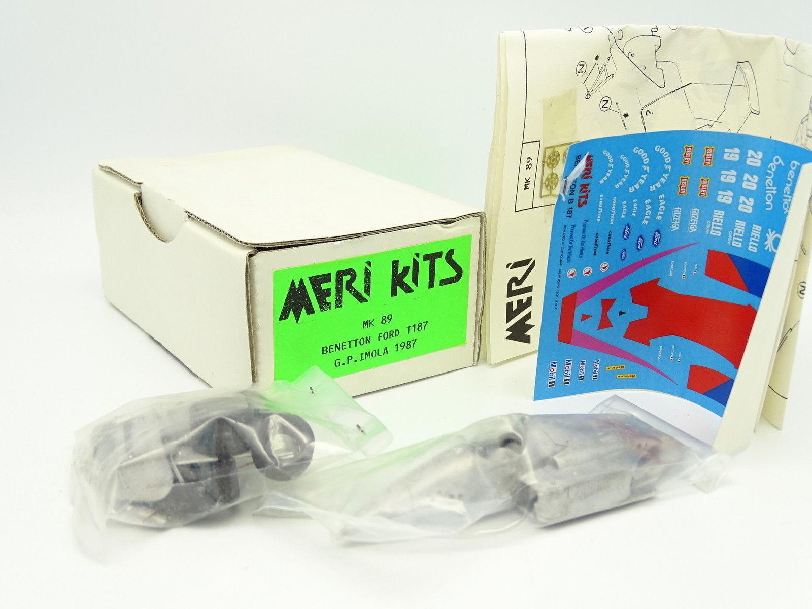 Meri Kit à Monter 1 43 - F1 Benetton Ford T187 Imola GP 1987
