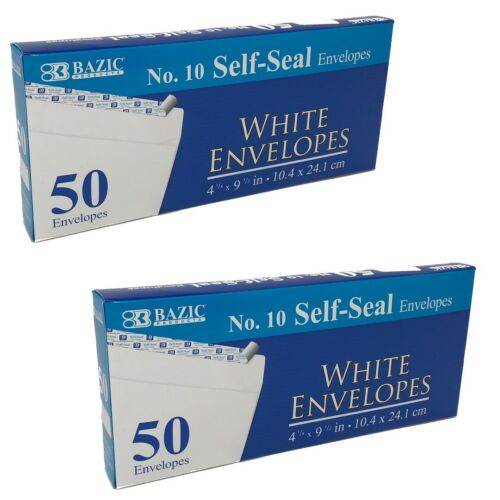 """100 White Envelopes Long Letter Shipping 4-1//8"""" x 9-1//2/"""" Self-Seal Mailing"""