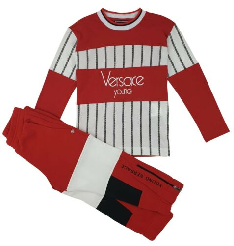 NEW Young Versace RRP £349 Boys Kids Tracksuit Top Joggers Pants bottoms A115-20