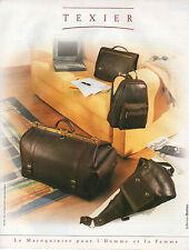 Publicité 1999  TEXIER Sac à main collection mode cuir Collection Boston