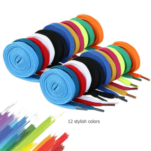 12 Pairs Shoelaces Colorful Flat Bootlace Sneaker Shoe Laces Shoe Strings