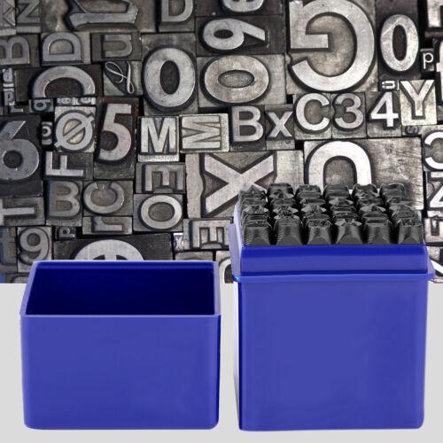 36tlg Schlagzahlen Set 6 mm Buchstaben Nummern Schlagbuchstaben Schlagstempel LI