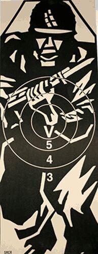 SRCR - Short Range Combat Rifle Target, 17.5  x 45  on Tagboard