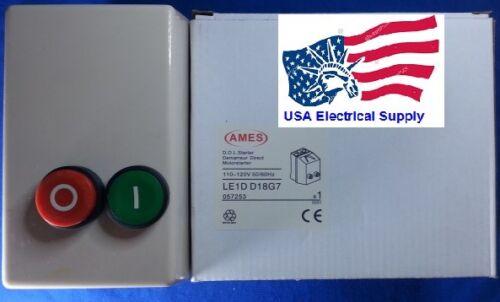 Schneider LE1D18G Replacement for AMES LE1DD18G Motor Magnetic Starter 110-120V