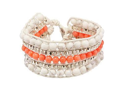 Wrap Cuff Bracelet in Coral