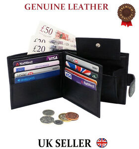 MENS-SOFT-HIGH-QUALITY-GENUINE-REAL-LEATHER-WALLET-CREDIT-CARD-COIN-DESIGN-PURSE