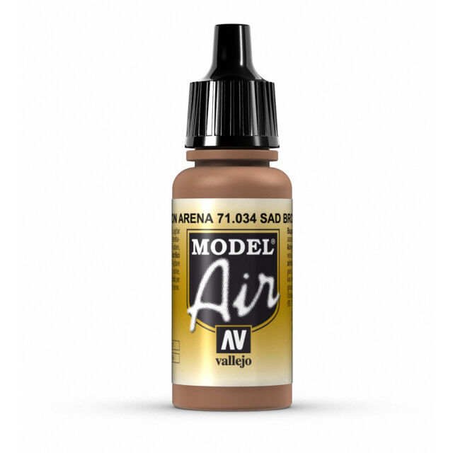 Vallejo Model Air: Sand Brown - Acrylic Paint Bottle 17ml VAL71.034
