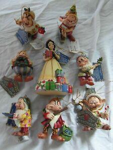 Disney-Showcase-Jim-Shore-Enesco-Snow-White-Seven-Dwarves-Hanging-WITH-BOXES